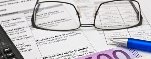 Beantragung von Pflegegeld